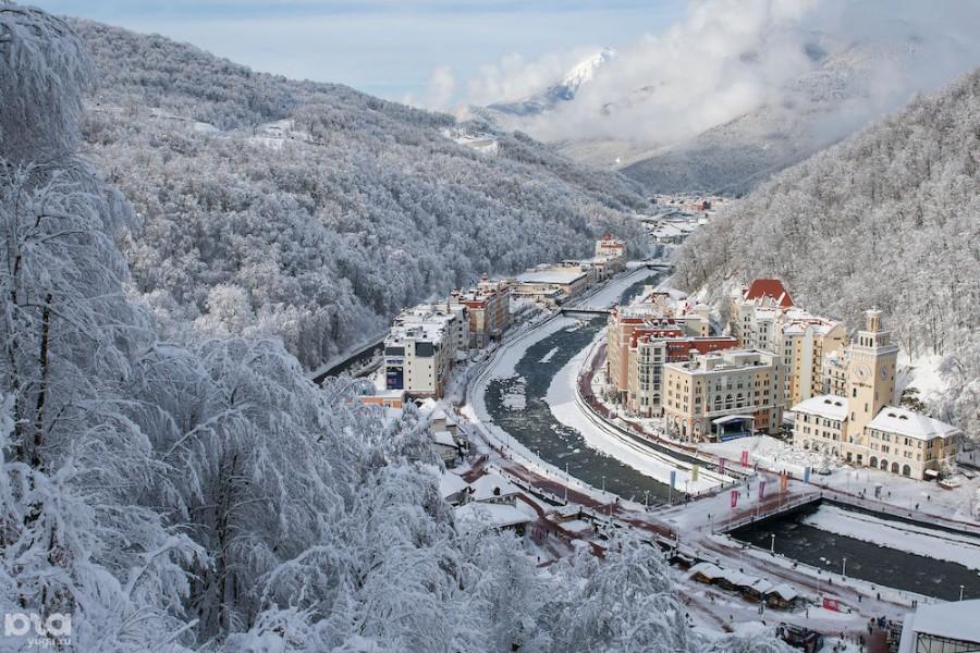 Фото гор красной поляны зимой